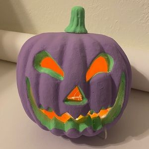 Jack O Lantern Halloween Pumpkin Home Decor Green